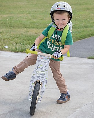 Kiddimoto Bici Senza Pedali in Legno Kurve, Dinosauri Biciclette Senza Pedali
