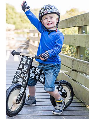 Kiddimoto Bici Senza Pedali in Legno Kurve, Teschi Biciclette Senza Pedali