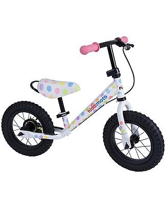 Kiddimoto Bici Senza Pedali Super Junior Maxi, Pois Pastello Biciclette Senza Pedali