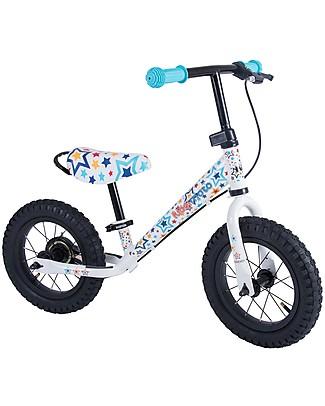 Kiddimoto Bici Senza Pedali Super Junior Maxi, Stelle Biciclette Senza Pedali
