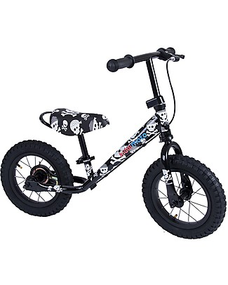 Kiddimoto Bici Senza Pedali Super Junior Maxi, Teschi Biciclette Senza Pedali
