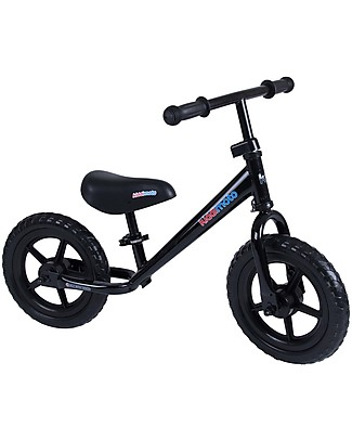 Kiddimoto Bici Senza Pedali Super Junior, Nero Biciclette Senza Pedali