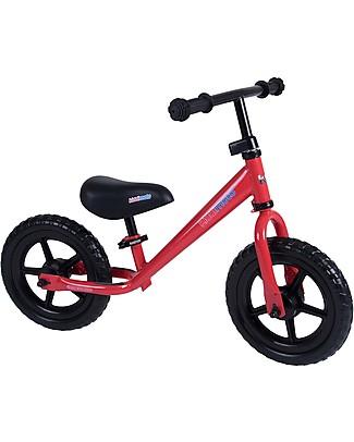 Kiddimoto Bici Senza Pedali Super Junior, Rosso Biciclette Senza Pedali