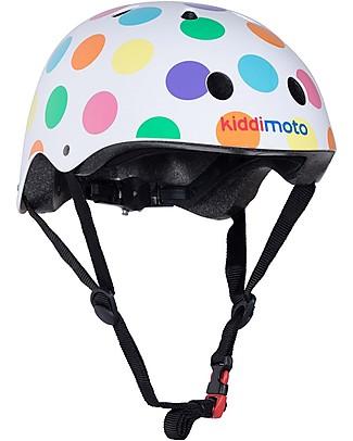 Kiddimoto Casco Bici Fantasia, Pois Pastello  Biciclette