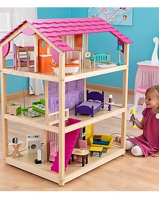 KidKraft Casa delle Bambole So Chic, Rotante con ben 10 Stanze! - Legno Case delle Bambole