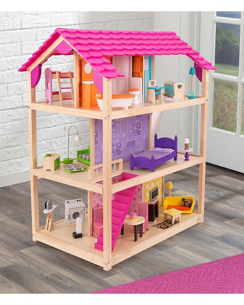 Casa delle bambole in legno fai da te casa di bambola for Mobili per barbie fai da te