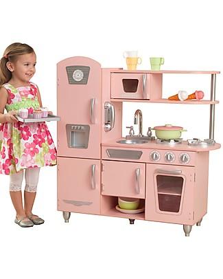 KidKraft Cucina Giocattolo in Stile Vintage, Rosa - Legno Giochi Creativi