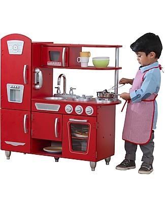 KidKraft Cucina Giocattolo in Stile Vintage, Rossa - Legno Giochi Creativi