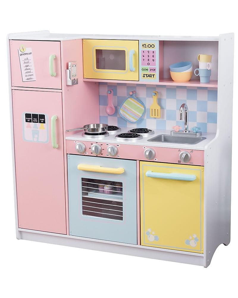 KidKraft Cucina Giocattolo Large Pastel, Colorata e di Grandi ...