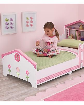 KidKraft Lettino per Bambine Stile Casa delle Bambole con Vano Portaoggetti - Legno Letti Singoli