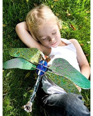 Kidsonroof Totem Libellula - Dragonfly (Cartone Riciclato e Biodegradabile!) Carta e Cartone
