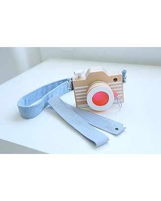 Kiko+ and gg* Macchina Fotografica in Legno, Rosa - Comprende lente colorata e cinghie! Construzioni In Legno