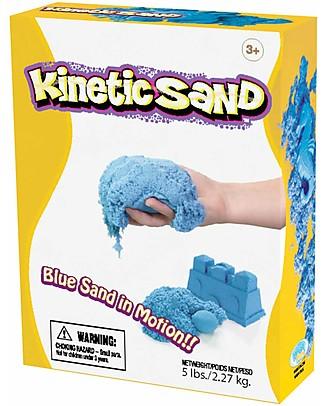 Kinetic Sand Sabbia Cinetica 2,27 Kg, Azzurro - Non secca, non sporca, anallergica! Giochi Creativi