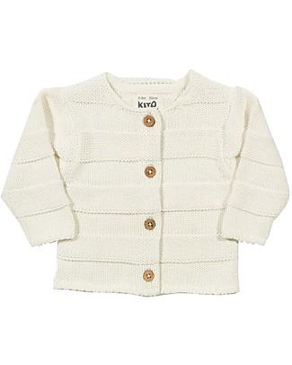 Kite Cardigan Baby, Crema - 100% cotone bio Cardigan