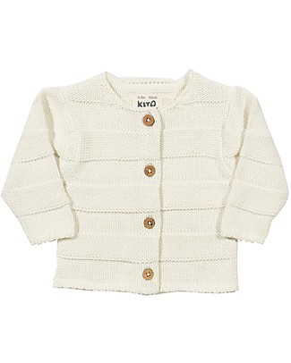 Kite Cardigan Baby, Crema - 100% cotone bio null