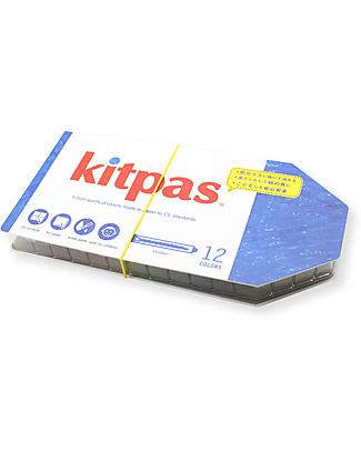 Kitpas 12 Pastelli ad Olio con Cover - Disegnano su carta e vetro e si cancellano! Colorare