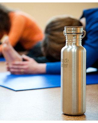 Klean Kanteen Bottiglia Reflect Bamboo in Acciaio spazzolato - 800 ml - Design, funzionalità, sostenibilità Borracce Metallo