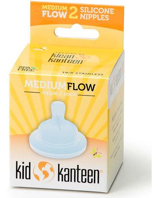 Klean Kanteen Set da Due Tettarelle Ritmo Naturale - Flusso Medio (dopo i 6 mesi) (anticoliche) Biberon Anti-Colica