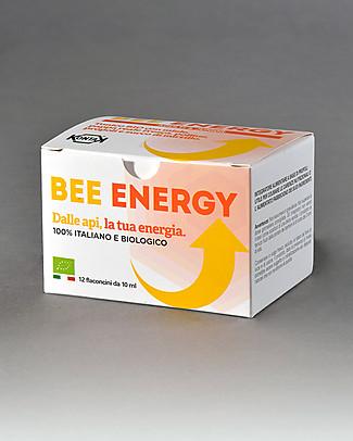 Kontak Bee Energy Adulti & Junior, 12 fiale - Integratore bio con miele, pappa reale, polline, propoli e succo di mirtillo Rimedi Naturali