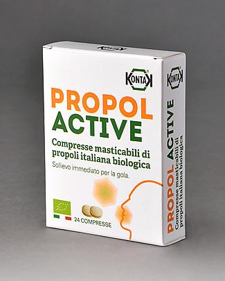 Kontak Propol Active Bio, 24 Compresse Masticabili di Propoli Italiana Bio  Rimedi Naturali