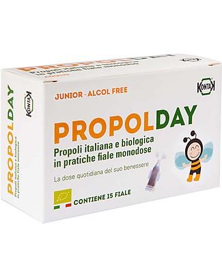 Kontak PropolDay Junior Alcol-Free, 15 fiale - Integratore bio con propoli Rimedi Naturali