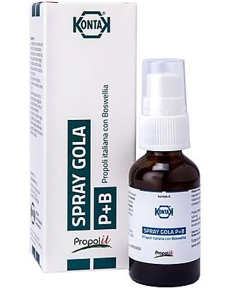 Kontak Spray Gola Adulti con Propoli e Boswellia, 20 ml - Per la gola irritata Rimedi Naturali
