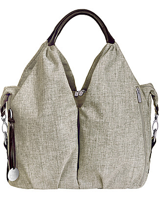 Lässig Borsa Cambio Neckline Green Label, Choco Melange - Super-accessoriata, 100% riciclata Borse Cambio e Accessori