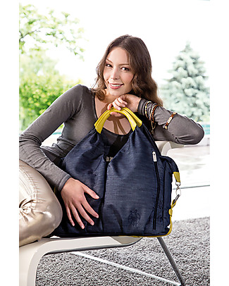 Lässig Borsa Cambio Neckline Green Label, Denim – Super-accessoriata, 100% riciclata Borse Cambio e Accessori