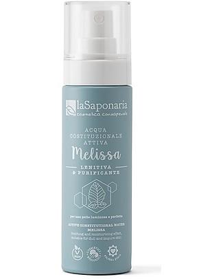 La Saponaria Acqua Attiva Lenitiva Melissa, 50 ml - Per Pelli Impure! Detergenza