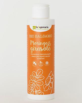 La Saponaria Balsamo Moringa e Girasole, Linea Semi di Lino, 150 ml - Per capelli secchi Bagno Doccia Shampoo