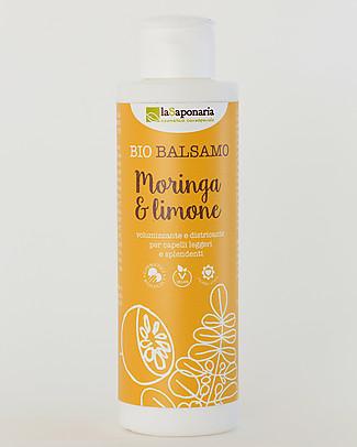 La Saponaria Balsamo Moringa e Limone, Linea Semi di Lino, 150 ml - Per capelli grassi Crema Per Il Cambio