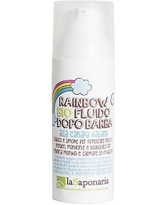 "La Saponaria Bio Fluido Dopo-Barba ""Rainbow"", Canapa e Salvia - 50 ml Viso"