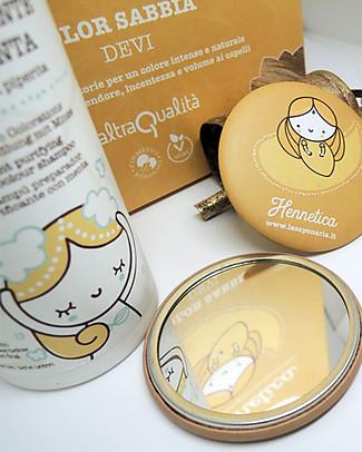 """La Saponaria Bio Tinta Riflessante per Capelli 100% Vegetale,  Sabbia """"Devi"""" Bagno Doccia Shampoo"""