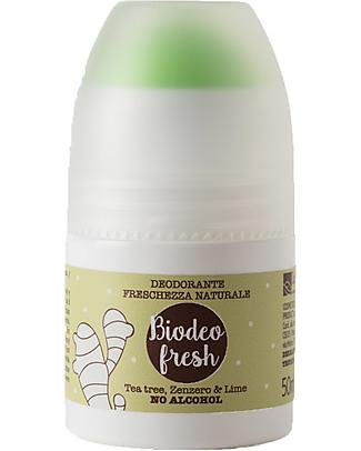 La Saponaria Biodeo Fresh, Deodorante Bio con Tè, Zenzero e Lime, 50 ml - Senza sali di alluminio e alcool Deodoranti