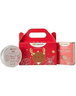 La Saponaria Cometa - Cofanetto mani Rosa e Karitè (Crema mani + Sapone) Creme e Olii