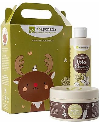 La Saponaria Cupido - Cofanetto corpo Vaniglia e Carota (Detergente corpo + Crema corpo nutriente) Creme e Olii