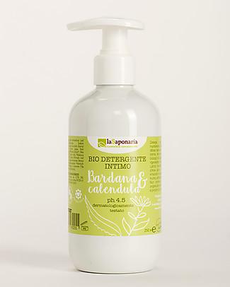 La Saponaria Detergente Intimo Bio con Bardana e Calendula, 250 ml - Per tutte le età Sapone Intimo