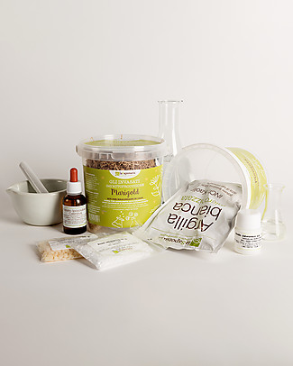 La Saponaria Kit Invasato di Autoproduzione, Marigold - Crea crema viso + maschera! Viso