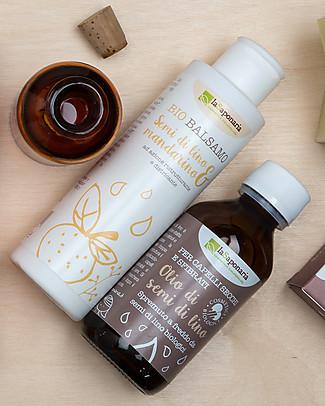 La Saponaria Olio ai Semi di Lino Bio, 100 ml - Per capelli sfibrati Creme e Olii