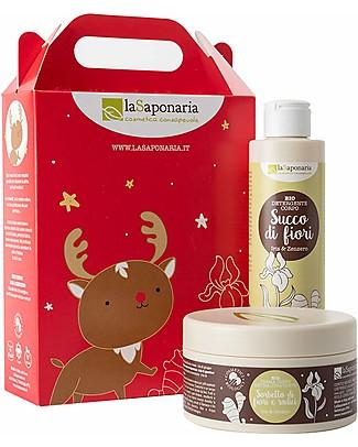 La Saponaria Rudolf - Cofanetto corpo Iris e Zenzero (Detergente corpo + Crema corpo idratante) Creme e Olii