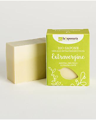La Saponaria Sapone all'Olio Extravergine d'Oliva 100 gr - Neutro per Pelli Delicate Bagno Doccia Shampoo