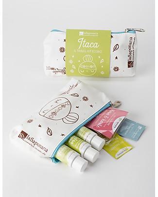 La Saponaria Set Regalo Itaca - Pochette con 6 prodotti - Perfetta da Viaggio! Detergenza
