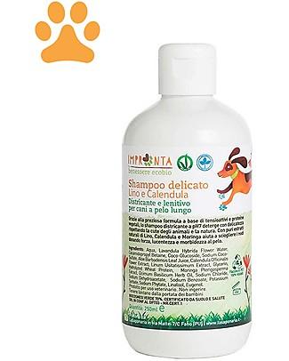 La Saponaria Shampoo Delicato, Lino e Calendula, per Cani a Pelo Lungo - 250 ml Shampoo e Balsamo