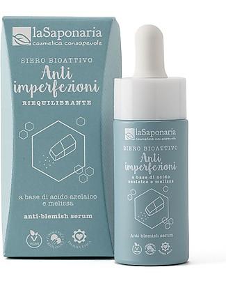 La Saponaria Siero Bioattivo Anti-imperfezioni, 15 ml - per una Pelle Perfetta Viso