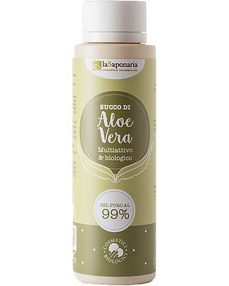 La Saponaria Succo di aloe - Gel di Aloe biologico, 150 ml - Per Viso, Corpo e Capelli! Viso