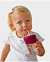 Label Label Tappo Universale Antigoccia Sippy Straw, Pacco da 2 - Rosa Tazze con Beccuccio Sippy