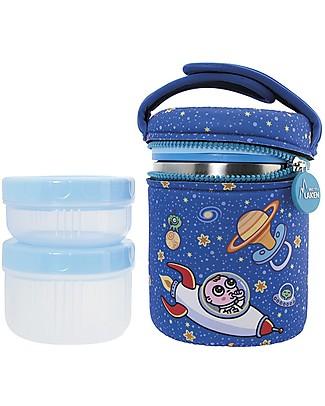 Laken Thermos Porta Alimenti in Acciaio Inox con 2 Contenitori, 1000 ml - Astro Thermos