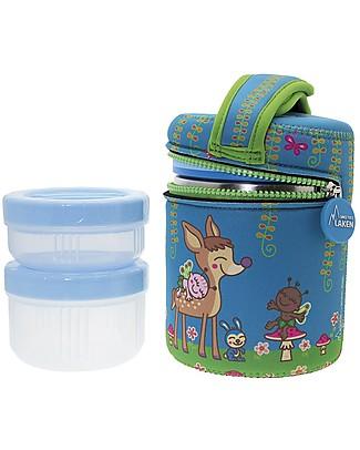 Laken Thermos Porta Alimenti in Acciaio Inox con 2 Contenitori, 1000 ml - Baby Thermos
