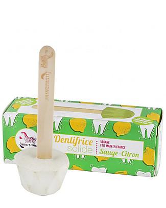 Lamazuna Dentifricio Solido, Salvia e Limone - 17gr - Zero Plastica e Zero Rifiuti! Dentifricio e Spazzolini