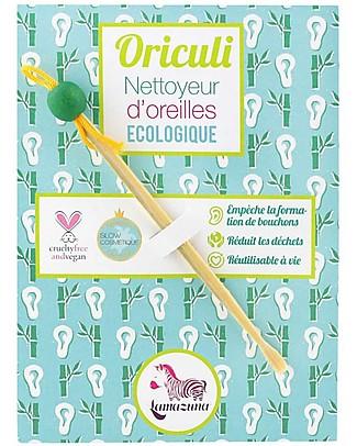 Lamazuna Oriculi, Pulisci Orecchie Ecologico e Riutilizzabile - 100% Bambù Kit Toilette Neonato